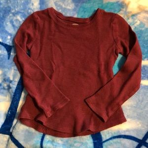 5/$15 Old Navy Burgundy Waffle Weave Top